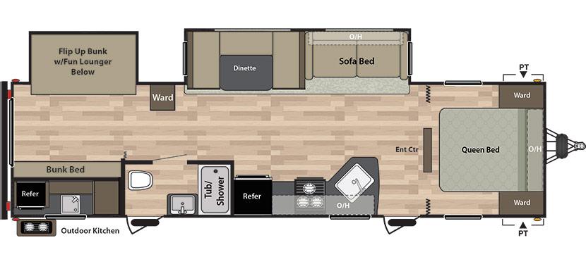 roulotte a vendre bunk bed