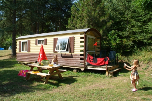 roulotte camping ardeche