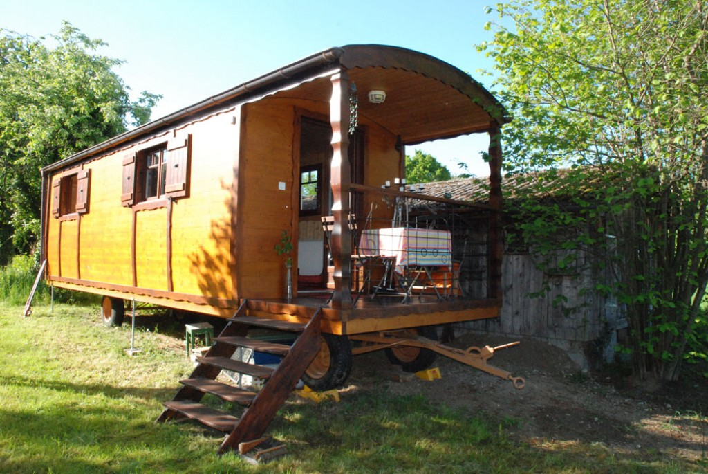 roulotte camping de luxe