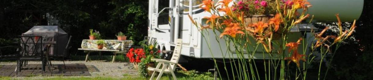 roulotte camping domaine de la chute