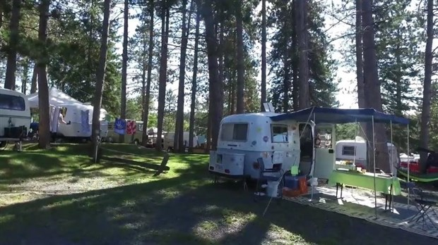roulotte camping lac st jean