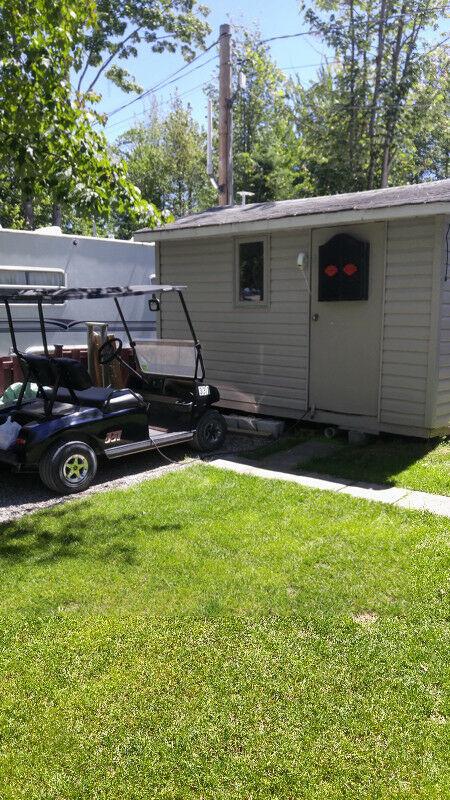 roulotte camping saisonnier a vendre